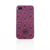 [破盤出清價]TORY BURCH彩繪花卉iPhone4/4S手機保護殼(紫色)151011