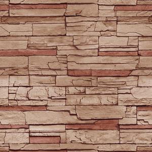 歐NINE壁紙-磚紅 文化石 85195