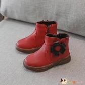 女童短靴靴子公主鞋2019冬季新款韓版女童鞋皮靴兒童雪地靴棉鞋潮CM2042【花貓女王】