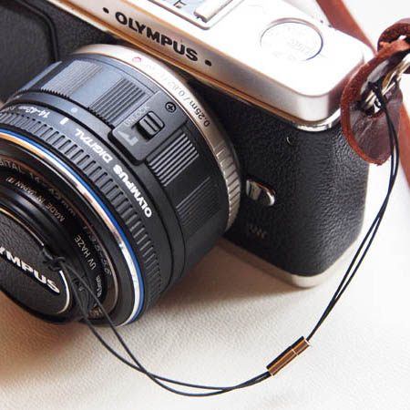 (BEAGLE) 真皮相機專用鏡頭蓋防丟蒙皮貼 CANON E-43 頭蓋貼 鏡頭蓋防丟繩-EOS M/M2/M3鏡頭蓋專用