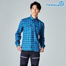 【西班牙TERNUA】男經典格紋長袖保暖襯衫1481142 / 城市綠洲(Dryshell、透氣、排汗快乾)