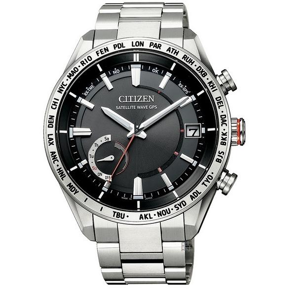 CITIZEN 星辰 GPS光動能 衛星對時 鈦金屬手錶 CC3081-52E