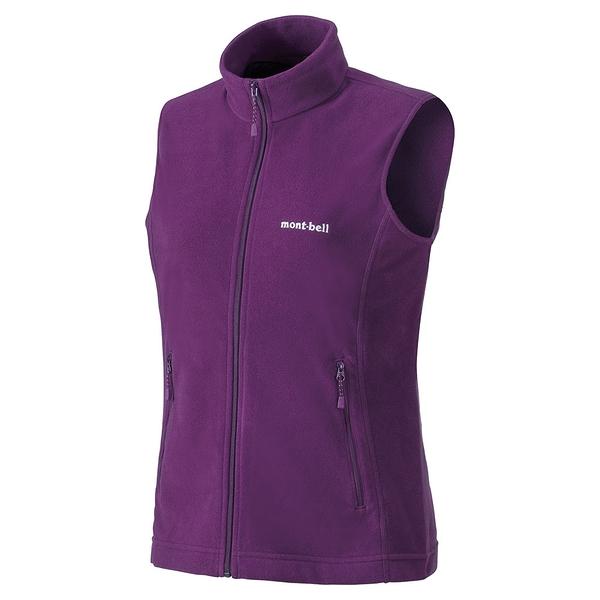 [好也戶外]mont-bell CHAMEECE Vest 女款薄刷毛背心 No.1104986/CSVI深紫