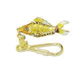 金屬鑰匙圈吊飾 景泰藍 手工 紀念品【鱧魚】琺瑯鑰匙圈吊飾  魚身長度 4.5 公分