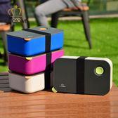日式塑膠學生保溫飯盒成人單層便當盒可微波爐分格愛心加熱餐盒