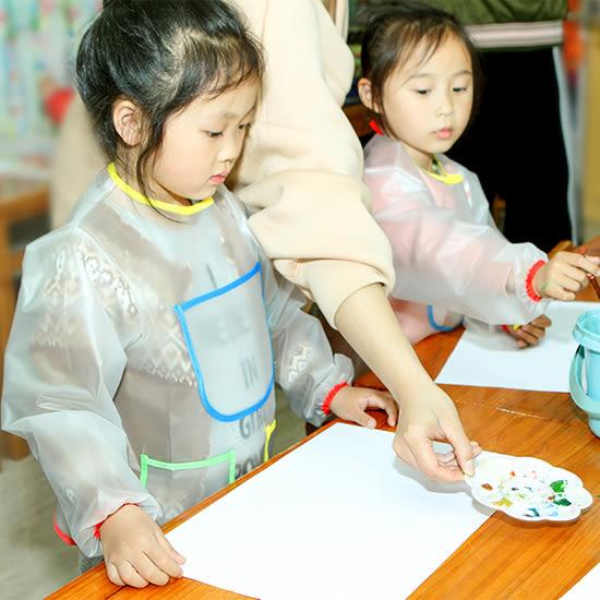 ♚MY COLOR♚兒童繪畫防污反穿衣 塗鴉 防髒 圍裙 幼兒園 美術 畫畫衣 防  水 罩衣 吃飯衣【G75】