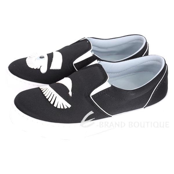 Chiara Ferragni Flirting 眨眼粗眉毛造型厚底鞋(黑色) 1640244-01