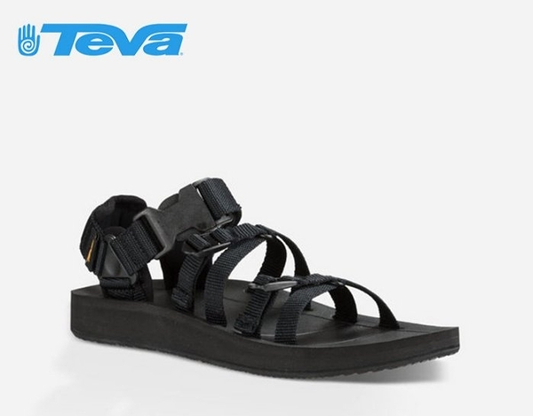 丹大戶外【TEVA】美國 男款 Alp Premier 經典設計織帶涼鞋 1015200 BLK 黑色