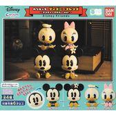 全套4款【日本正版】迪士尼朋友 造型轉蛋 復古版 扭蛋 轉蛋 環保蛋殼 BANDAI 萬代 - 332510