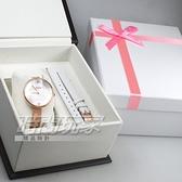 GOTO Marine 海洋系列 簡約時尚手錶 米蘭帶 皮帶 玫瑰金電鍍x白 禮盒組 女錶 GM0096L-44-241-2