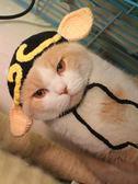 雙12聖誕交換禮物豬八戒貓咪頭套寵物帽子貓變裝帽搞怪貓頭飾英短加菲貓咪帽針織帽