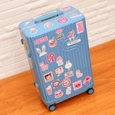 行李箱貼紙防水卡通可愛文藝旅行箱貼畫潮牌ins網紅女個性創意手機貼筆記本吉他拉