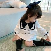 洋裝 女童學院風連身裙小女孩公主裙兒童新款秋裝寶寶洋氣網紅裙子 朵拉朵