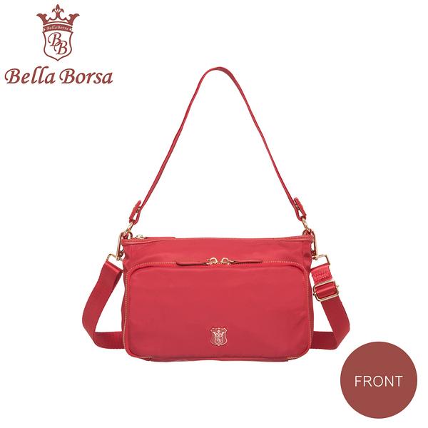 日本 Bella Borsa - 多口袋兩用側背包-紅 BB18A003RD