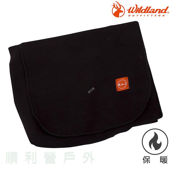 荒野WILDLAND 輕柔PILE保暖圍巾 W2010 黑色 刷毛圍巾 不易產生靜電 OUTDOOR NICE