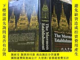 二手書博民逛書店The罕見Mormon Establishment,1966布面
