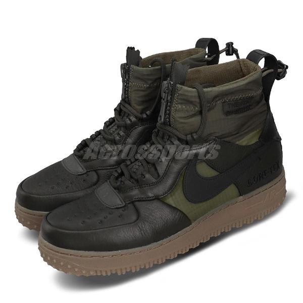 Nike 休閒鞋 Air Force 1 WTR GTX 綠 黑 男鞋 運動鞋 高筒 Gore-tex 【PUMP306】 CQ7211-300