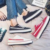 夏季新款帆布鞋男情侶港風板鞋學生高中低筒韓版小白鞋青年百搭潮鞋子   麥吉良品