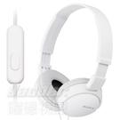 預購【曜德】SONY MDR-ZX110AP 白色 簡約摺疊 耳罩式耳機 線控通話