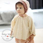 童裝 女童 甜美 圓領 襯衫 燈籠袖 皺褶 上衣 BW