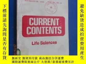 二手書博民逛書店英文罕見CURRENT CONTENTS 共300頁Y15969