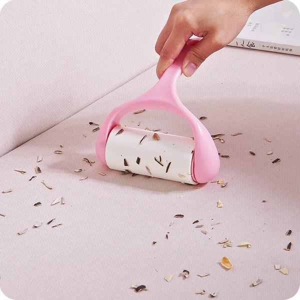 可撕式除塵滾粘毛刷衣物滾筒粘毛器除塵紙地毯沾灰塵黏毛滾粘塵刷