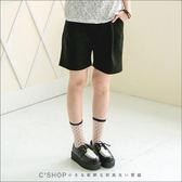 短褲  簡約時尚打摺五分西裝褲  二色-小C館日系