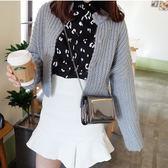 韓版時尚新款迷你小方包鍊條小包包亮皮手拿女包單肩斜挎包潮 雲雨尚品