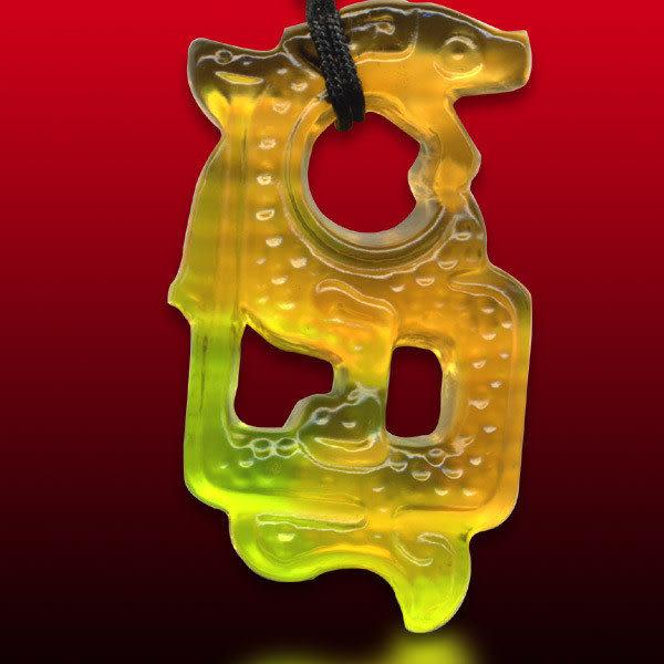 鹿港窯~居家開運水晶琉璃項鍊~螭琥(又稱貔貅)附精美包裝◆免運費送到家
