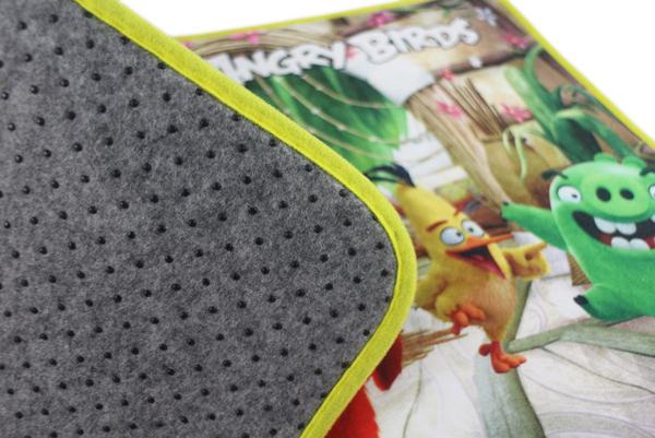 【卡漫城】 憤怒鳥 腳踏墊 64x45cm ㊣版 Angry Birds 紅鳥 綠豬 防滑墊 止滑墊 飛鏢黃鳥 地毯
