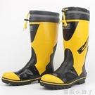 品質男式高筒鋼頭鐵頭防砸勞保工作鞋中長筒雨鞋雨靴水鞋三防雨鞋 蘿莉新品