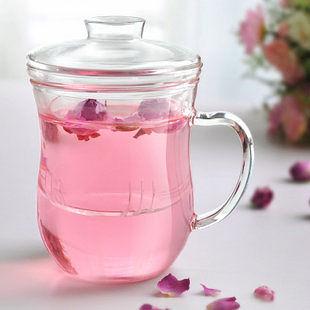耐熱花茶玻璃杯 帶蓋過濾