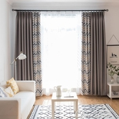 遮陽隔熱窗簾全遮光布北歐窗簾布簡約現代落地窗客廳臥室飄窗YXS 【快速出貨】