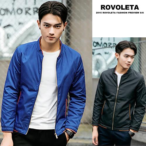 邊條特殊設計夾克外套【YD-8078】(ROVOLETA)