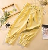 九分褲 西裝褲女直筒寬鬆垂感夏季薄款高腰顯瘦寬管褲蘿卜休閒九分雪紡褲