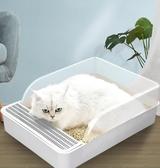 貓砂盆全半封閉式貓廁所除臭大號小號防外濺貓屎盆貓沙盆貓咪用品  免運快速出貨