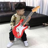 吉他玩具 兒童大號可充電彈奏男女孩仿真尤克里里電子音樂初學樂器 俏女孩