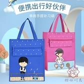 2個裝 補習袋學生書袋手提補習手提袋帆布【櫻田川島】