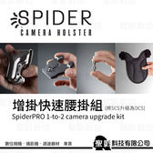 SpiderPro 1-to-2 Camera Kit 蜘蛛增掛快速腰掛組(1-2台) 將SCS升級為可掛2台 立福公司貨