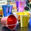 冰桶 創意冰桶 不銹鋼小吃桶 鍍色酒桶 炸雞桶薯條桶 酒吧KTV迷你冰桶·夏茉生活