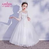 女童禮服 兒童禮服公主裙花童走秀小主持人鋼琴演出服女童高端蓬蓬紗裙洋氣-Ballet朵朵