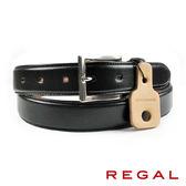 【REGAL】品味紳士皮帶 黑色(ZR049-BL)