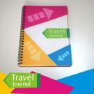 《Travel Journal》彩色拼塊- 旅遊筆記本/鐵環裝筆記本/記錄簿/筆記本/霧面膠片-【Fruit Shop】