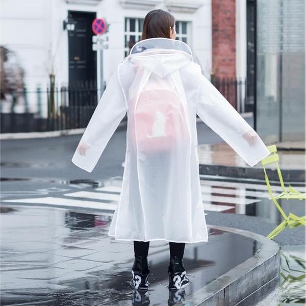 全身雨衣透明男女雨衣成人長款電動車雨披【聚寶屋】