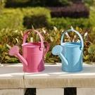 鐵質多彩噴水壺家用澆花兒童盆栽澆水壺園藝小澆花壺灑水桶
