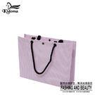 手提袋-編織袋(L)-粉紫白-01C...