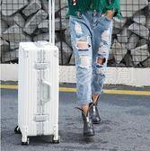 行李箱行李箱女20寸拉桿箱旅行箱萬向輪鋁框韓版男24密碼箱26復古學生29全館免運 維多