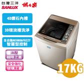 留言加碼折扣享限區運送基本安裝SANLUX 台灣三洋 媽媽樂17公斤 超音波單槽洗衣機 SW-17NS6