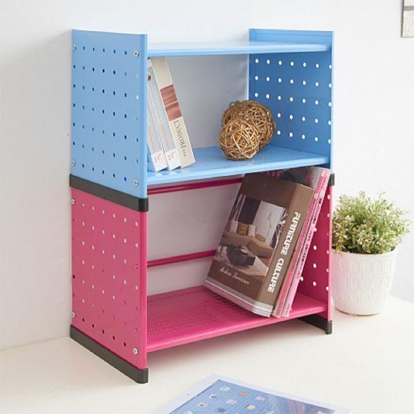1入組-可堆疊式組合書櫃/書架【誠田物集】收納櫃 置物櫃 櫃子 書擋 OA125