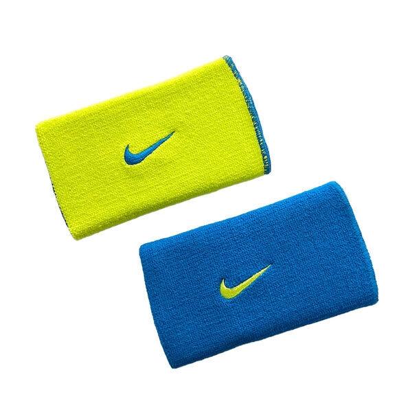 Nike Dri-fit [NNNB0493OS] 腕帶 主客場 雙面 運動 籃球 訓練 吸汗 快乾 乾爽 舒適 藍黃